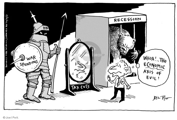 Joel Pett  Joel Pett's Editorial Cartoons 2002-02-04 budget