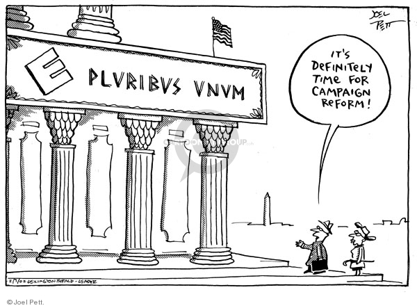 Joel Pett  Joel Pett's Editorial Cartoons 2002-02-07 2004 election