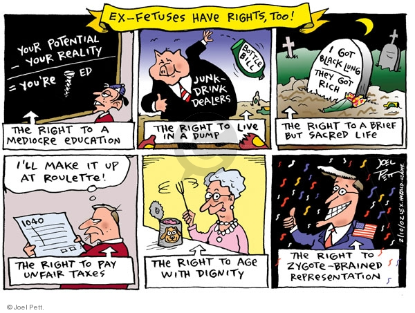Cartoonist Joel Pett  Joel Pett's Editorial Cartoons 2002-02-10 respiratory