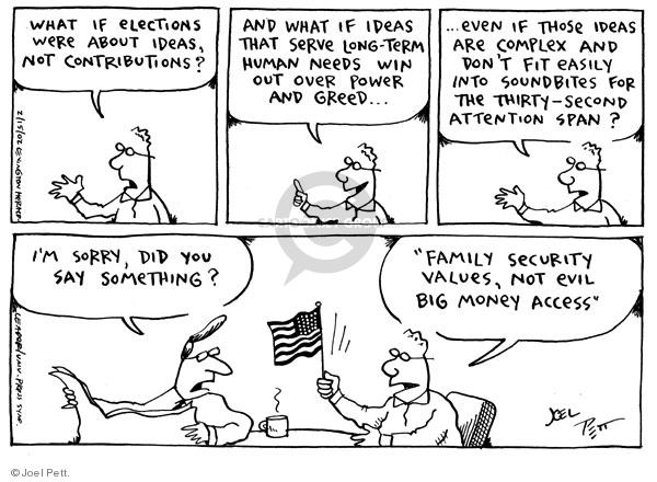 Cartoonist Joel Pett  Joel Pett's Editorial Cartoons 2002-02-16 power