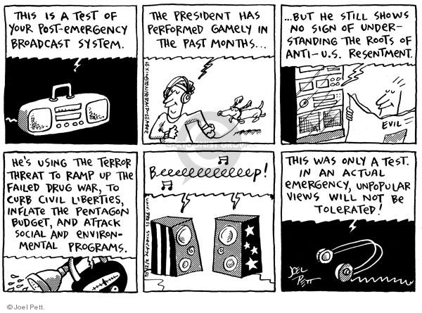 Cartoonist Joel Pett  Joel Pett's Editorial Cartoons 2002-02-21 leader