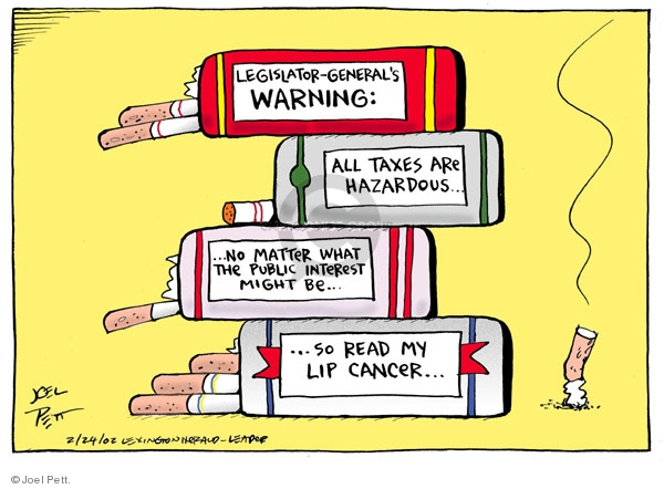 Joel Pett  Joel Pett's Editorial Cartoons 2002-02-24 cancer