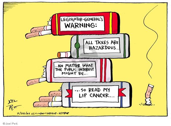 Joel Pett  Joel Pett's Editorial Cartoons 2002-02-24 no interest