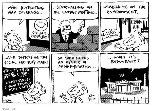 Cartoonist Joel Pett  Joel Pett's Editorial Cartoons 2002-03-05 George W. Bush