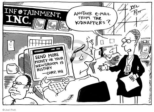 Joel Pett  Joel Pett's Editorial Cartoons 2002-03-07 risk