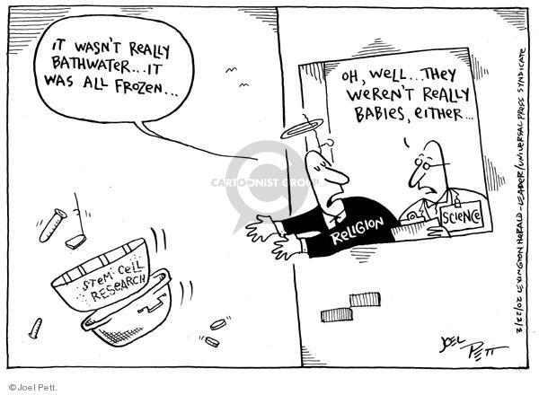 Joel Pett  Joel Pett's Editorial Cartoons 2002-03-22 science
