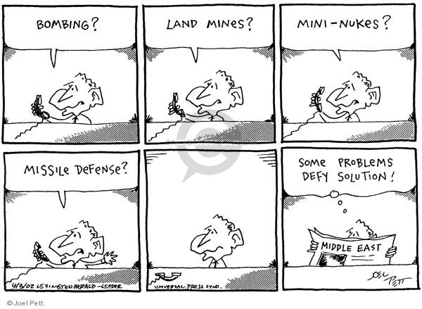 Joel Pett  Joel Pett's Editorial Cartoons 2002-04-03 Middle East