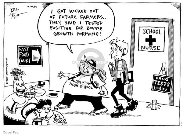 Joel Pett  Joel Pett's Editorial Cartoons 2002-04-04 nurse