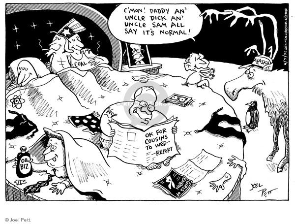 Cartoonist Joel Pett  Joel Pett's Editorial Cartoons 2002-04-05 Alaska