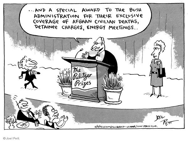 Joel Pett  Joel Pett's Editorial Cartoons 2002-04-09 award