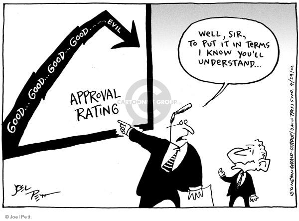 Cartoonist Joel Pett  Joel Pett's Editorial Cartoons 2002-04-24 leader
