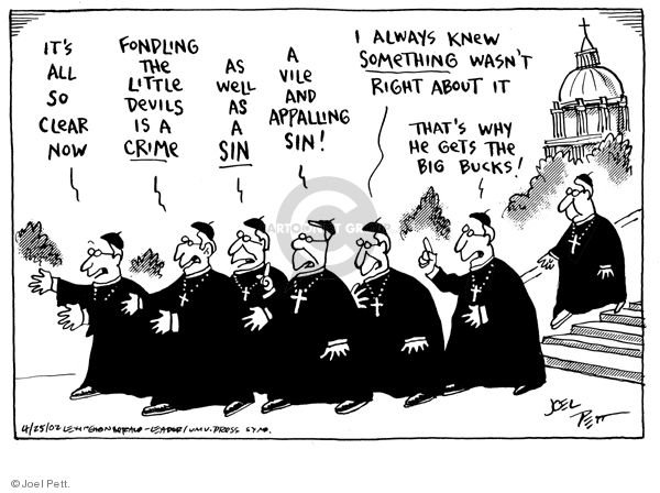 Joel Pett  Joel Pett's Editorial Cartoons 2002-04-25 wrong