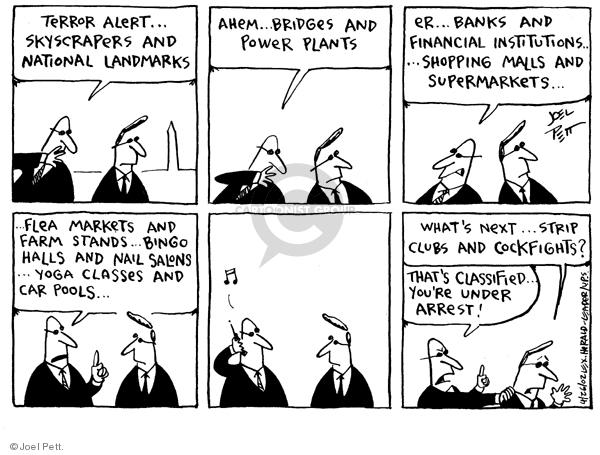 Joel Pett  Joel Pett's Editorial Cartoons 2002-04-26 national security