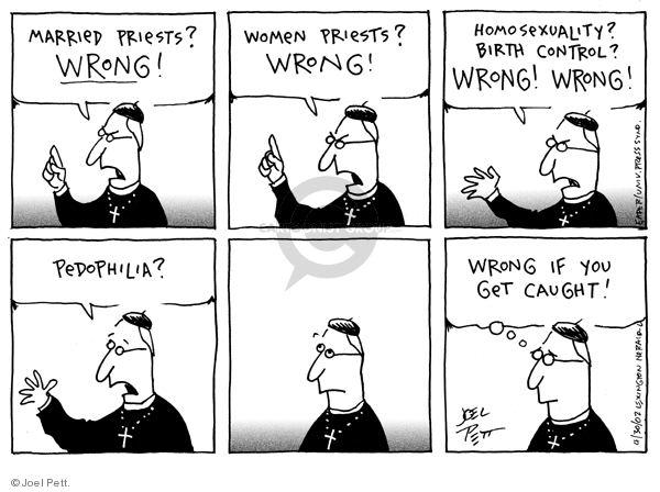 Joel Pett  Joel Pett's Editorial Cartoons 2002-04-30 wrong