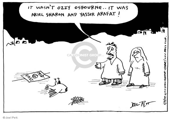 Joel Pett  Joel Pett's Editorial Cartoons 2002-05-09 Middle East