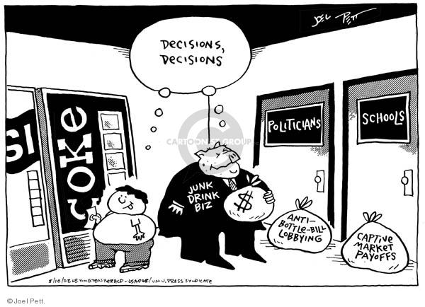 Cartoonist Joel Pett  Joel Pett's Editorial Cartoons 2002-05-10 greedy