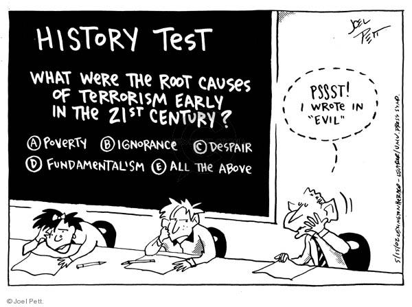 Joel Pett  Joel Pett's Editorial Cartoons 2002-05-15 answer