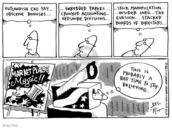 Joel Pett  Joel Pett's Editorial Cartoons 2002-06-07 business scandal