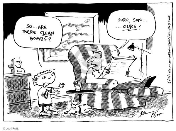 Cartoonist Joel Pett  Joel Pett's Editorial Cartoons 2002-06-12 plot