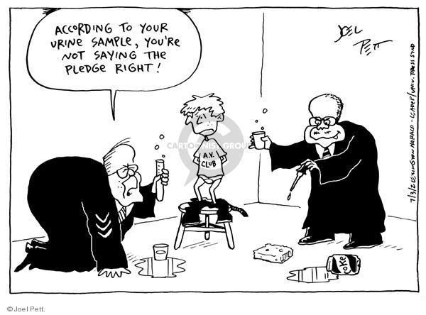 Cartoonist Joel Pett  Joel Pett's Editorial Cartoons 2002-07-03 authority