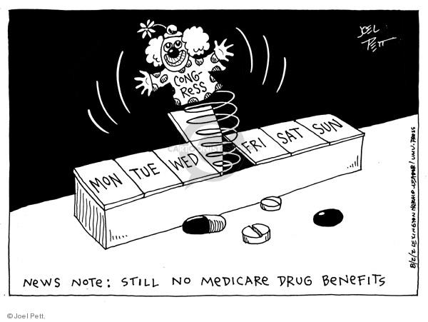 Cartoonist Joel Pett  Joel Pett's Editorial Cartoons 2002-08-02 congress health care