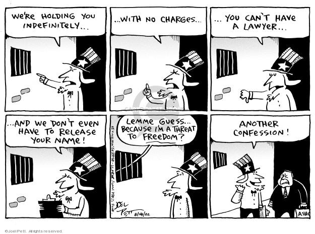 Joel Pett  Joel Pett's Editorial Cartoons 2002-08-14 detention