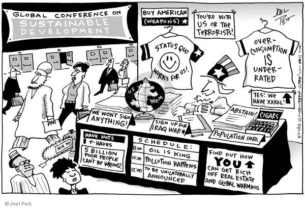 Cartoonist Joel Pett  Joel Pett's Editorial Cartoons 2002-08-27 info