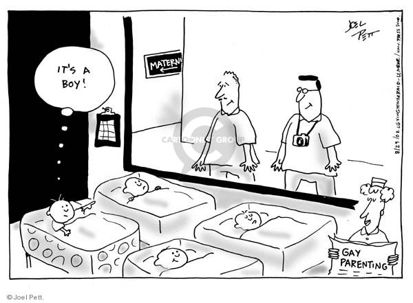 Cartoonist Joel Pett  Joel Pett's Editorial Cartoons 2002-08-29 gay
