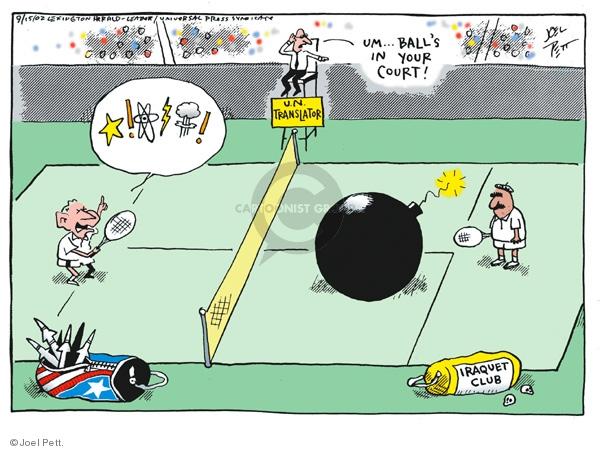 Joel Pett  Joel Pett's Editorial Cartoons 2002-09-15 word