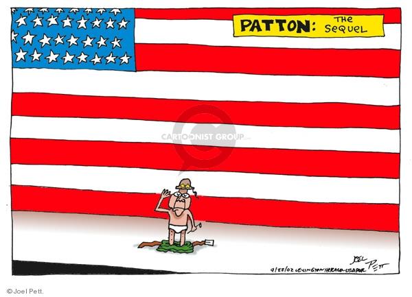 Cartoonist Joel Pett  Joel Pett's Editorial Cartoons 2002-09-22 military equipment