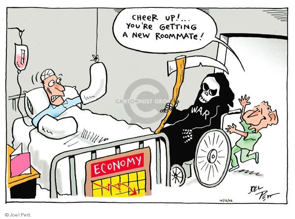 Joel Pett  Joel Pett's Editorial Cartoons 2002-10-13 hospital