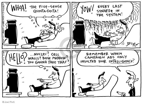 Cartoonist Joel Pett  Joel Pett's Editorial Cartoons 2002-10-30 advertising