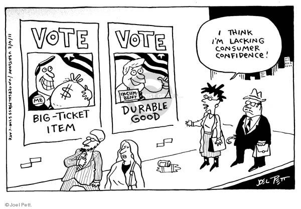 Cartoonist Joel Pett  Joel Pett's Editorial Cartoons 2002-11-04 advertising