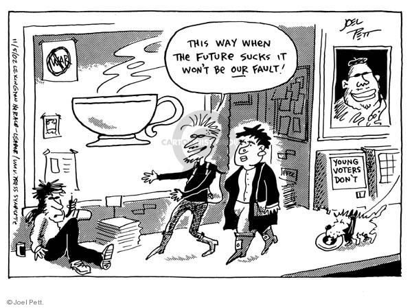 Joel Pett  Joel Pett's Editorial Cartoons 2002-11-05 youth vote