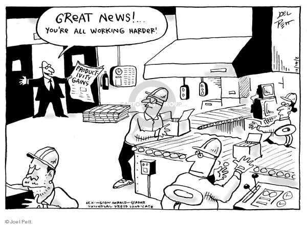 Joel Pett  Joel Pett's Editorial Cartoons 2002-11-14 employment work