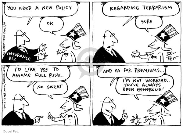 Joel Pett  Joel Pett's Editorial Cartoons 2002-11-27 worry