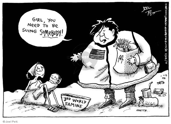 Cartoonist Joel Pett  Joel Pett's Editorial Cartoons 2002-11-30 state