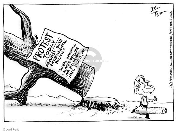 Cartoonist Joel Pett  Joel Pett's Editorial Cartoons 2002-12-03 Alaska