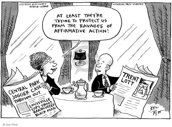 Cartoonist Joel Pett  Joel Pett's Editorial Cartoons 2002-12-13 case