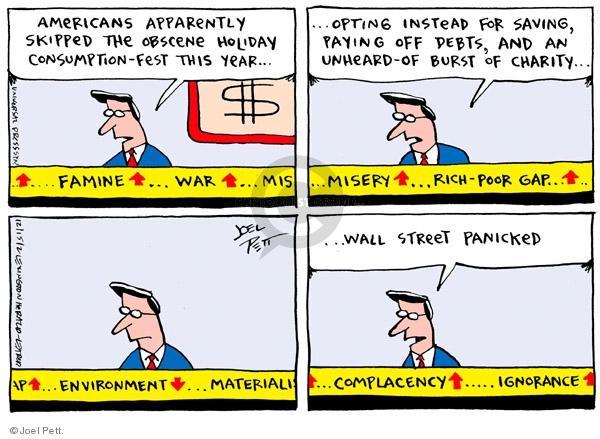 Cartoonist Joel Pett  Joel Pett's Editorial Cartoons 2002-12-15 debt