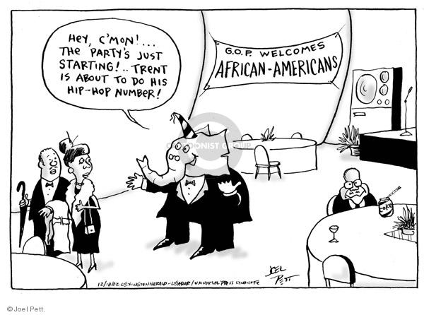 Joel Pett  Joel Pett's Editorial Cartoons 2002-12-18 race number