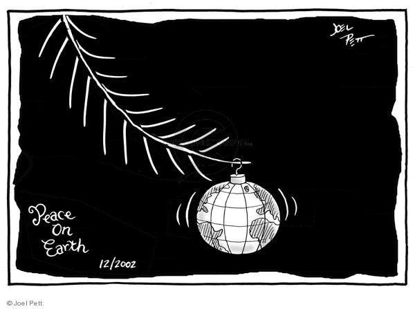 Joel Pett  Joel Pett's Editorial Cartoons 2002-12-24 holiday