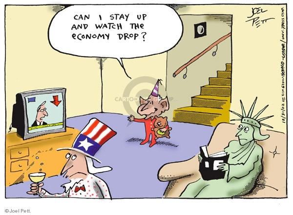 Joel Pett  Joel Pett's Editorial Cartoons 2002-12-31 budget