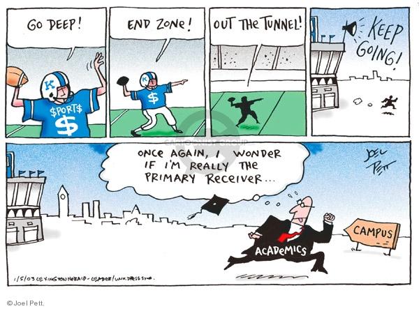 Cartoonist Joel Pett  Joel Pett's Editorial Cartoons 2003-01-05 standard