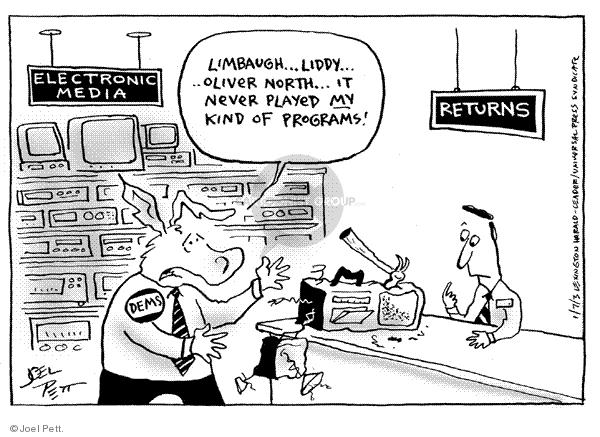 Joel Pett  Joel Pett's Editorial Cartoons 2003-01-07 democratic