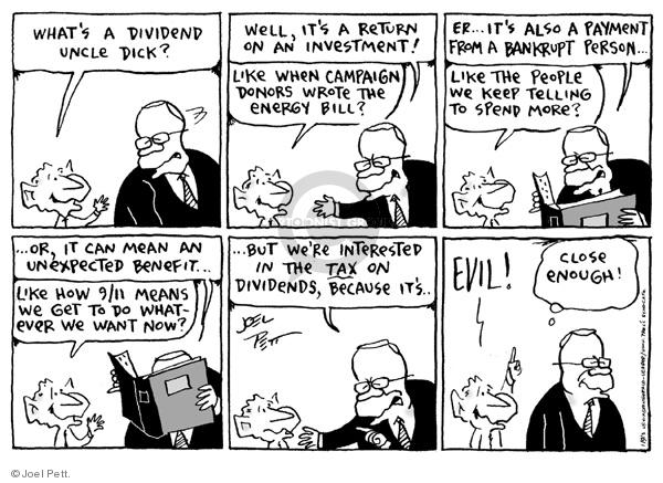 Cartoonist Joel Pett  Joel Pett's Editorial Cartoons 2003-01-09 political corruption