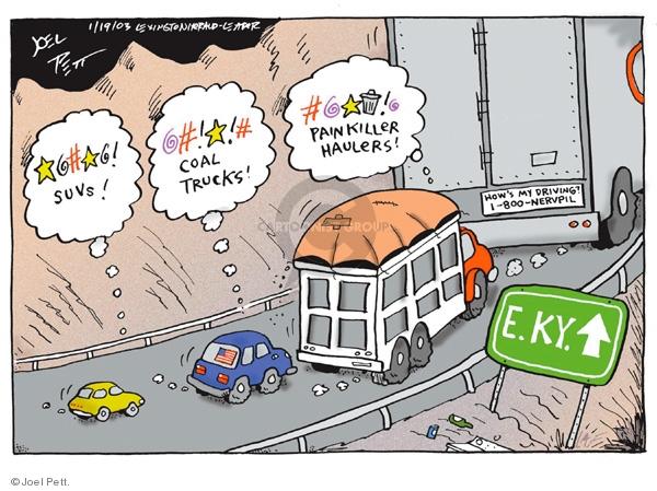 Joel Pett  Joel Pett's Editorial Cartoons 2003-01-19 medicine