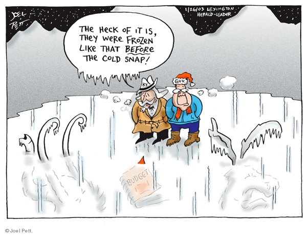Joel Pett  Joel Pett's Editorial Cartoons 2003-01-26 budget