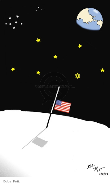 Cartoonist Joel Pett  Joel Pett's Editorial Cartoons 2003-02-02 space exploration