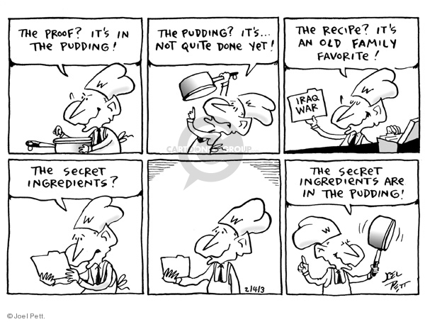 Cartoonist Joel Pett  Joel Pett's Editorial Cartoons 2003-02-04 justification